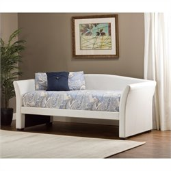 Hillsdale Montgomery Daybed in White Faux Leather