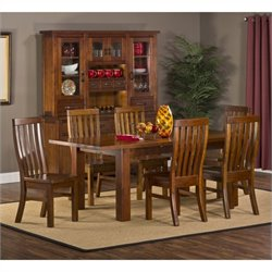 Hillsdale Outback Dining Set in Distressed Chestnut
