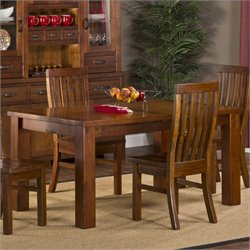 Hillsdale Outback Rectangular Dining Table with Leaf in Chestnut