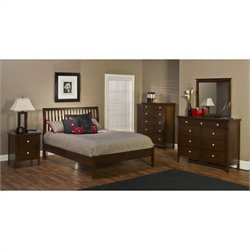Hillsdale Metro 5 Piece Bedroom Set with Liza Platform Bed