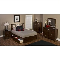 Hillsdale Metro 4 Piece Bedroom Set with Liza Storage Bed