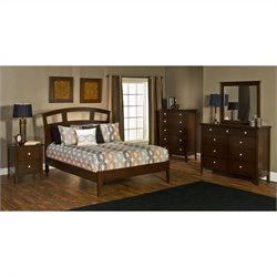 Hillsdale Metro 5 Piece Bedroom Set with Riva Platform Bed