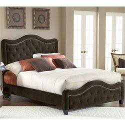 Hillsdale Trieste Panel Headboard with Rails in Chocolate