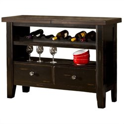 Hillsdale Killarney Server in Black and Antique Brown