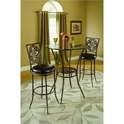 Hillsdale Marsala Bistro Dining 3 Piece Set in Gray