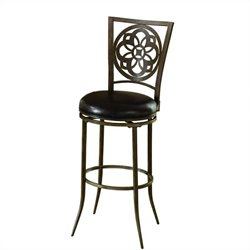 Hillsdale Marsala Swivel Bar Stool in Gray