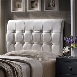Hillsdale Lusso Tufted Panal Headboard in White