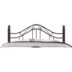 Hillsdale Madison Full Queen Poster Headboard in Textured Black
