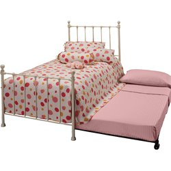 Molly Twin Poster Bed in White