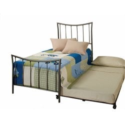 Hillsdale Edgewood Twin Spindle Bed with Trundle in Magnesium Pewter