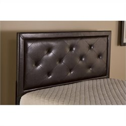 Hillsdale Becker Tufted Panel Headboard with rails in Brown