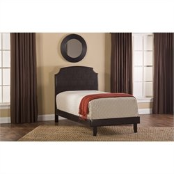 Hillsdale Lawler Upholstered Bed in Brown
