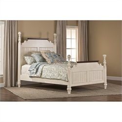 Hillsdale Pine Island Queen Post Bed in Old White