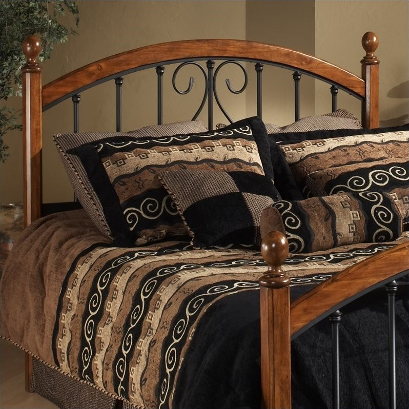 Hillsdale Burton Way Spindle Headboard In Cherry And Black
