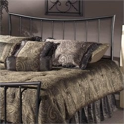 Hillsdale Edgewood Spindle Headboard in Pewter