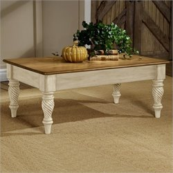 Hillsdale Wilshire Distressed Rectangular Cocktail Table in White