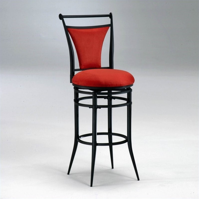 Hillsdale Cierra 30 Quot Swivel Bar Stool In Red And Black