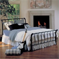 Hillsdale Janis Metal Sleigh Bed in Black