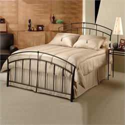 Hillsdale Vancouver Metal Panel Bed in Antique Brown