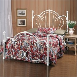 Hillsdale Cherie White Metal Poster Bed