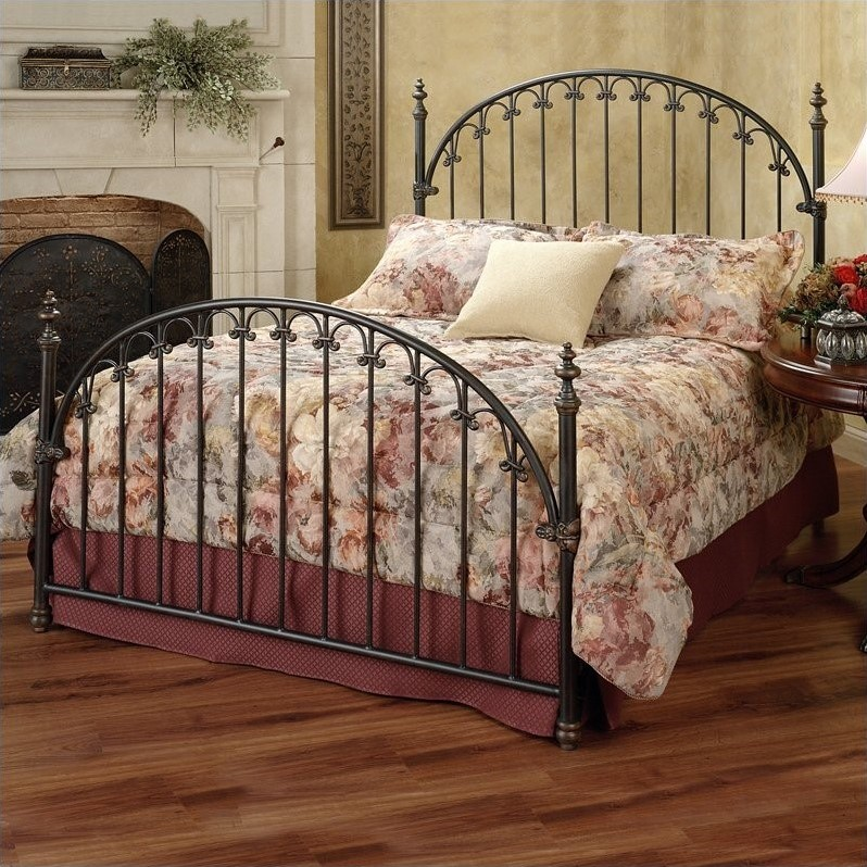 Hillsdale Kirkwell Metal Poster Bed in Brushed Bronze Finish