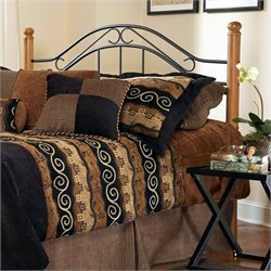 Hillsdale Winsloh Spindle Headboard in Black and Oak