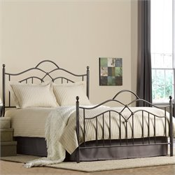Hillsdale Oklahoma Metal Panel Bed in Bronze Finish