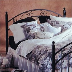 Hillsdale Willow Panal Headboard in Matte Black