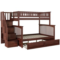 Atlantic Furniture Columbia Staircase Bunk Bed