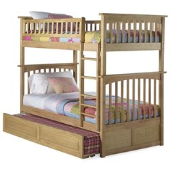 Atlantic Furniture Columbia Twin over Twin Bunk Bed with Trundle Bed