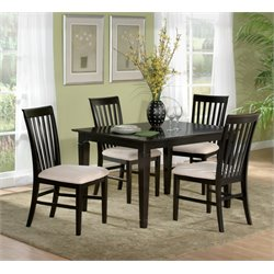 Atlantic Furniture Deco 5 Piece Dining Set in Espresso