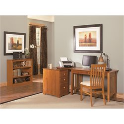 Atlantic Furniture Mission 4 Piece Office Set in Caramel Latte