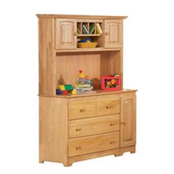 Atlantic Furniture Windsor Changing Table and Hutch in Natural Maple
