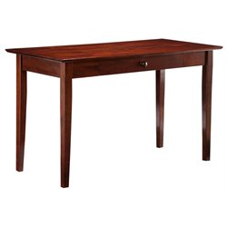 Atlantic Furniture Shaker Writing Desk in Antique Walnut