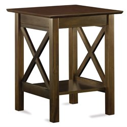 Atlantic Furniture Lexington Printer Stand in Antique Walnut