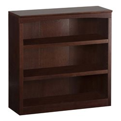 Atlantic Furniture 36 Inch Bookcase in Antique Walnut