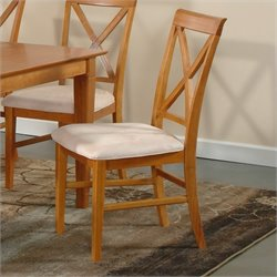Atlantic Furniture Lexington  Dining Chair in Caramel Latte (Set of 2)