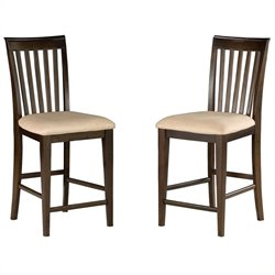 Atlantic Furniture Mission Pub Dining Chair in Antique Walnut (Set of 2)