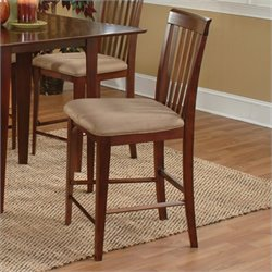 Atlantic Furniture Montreal Pub Dining Chair in Antique Walnut (Set of 2)