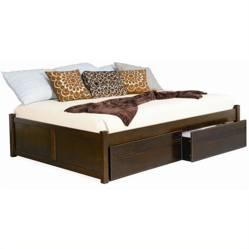 Atlantic Furniture Concord Flat Panel Wood Twin Daybed In