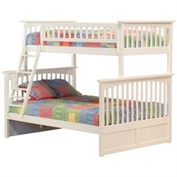 Atlantic Furniture Columbia Twin over Full Bunk Bed in White