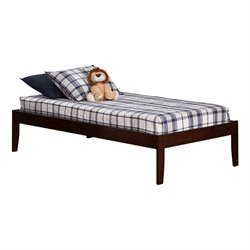 Atlantic Furniture Concord Bed with Open Foot Rail in Walnut Finish