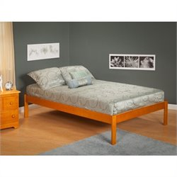 Atlantic Furniture Concord Bed with Open Foot Rail in Caramel Latte