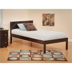 Atlantic Furniture Orlando Bed with Open Foot Rail in Espresso Finish