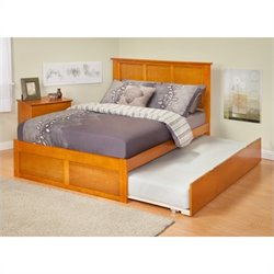 Atlantic Furniture Madison Bed with Trundle in Caramel Latte