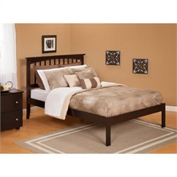 Atlantic Furniture Mission Bed with Open Foot Rail in Espresso
