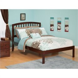 Atlantic Furniture Richmond Bed with Open Foot Rail in Antique Walnut