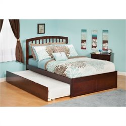 Atlantic Furniture Richmond Bed with Urban Trundle in Antique Walnut