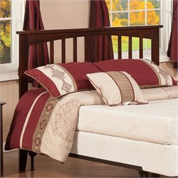 Atlantic Furniture Mission Slat Headboard in Antique Walnut