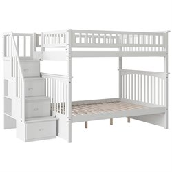Atlantic Furniture White Columbia Staircase Bunk Bed
